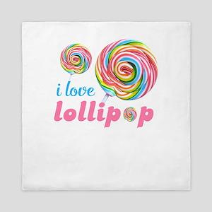 lollipop candy Queen Duvet