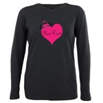 Personalizable Pink Heart with Crown Plus Size Lon