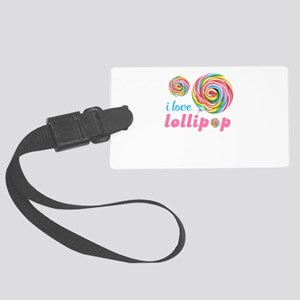 lollipop candy Large Luggage Tag