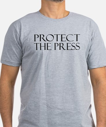 Protect The Press Men's Fitted T-Shirt (dark)