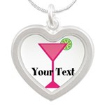 Personalizable Pink Cocktail Necklaces