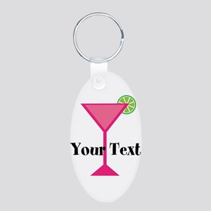 Personalizable Pink Cocktail Keychains