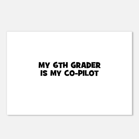 My 6th Grader is my co-pilot Postcards (Package of