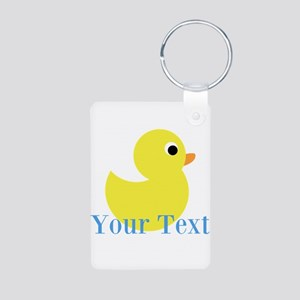 Personalizable Yellow Duck Blue Keychains