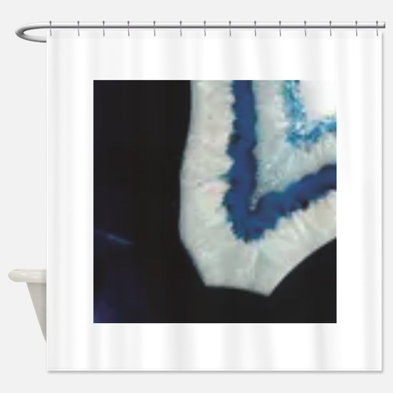 victory rock of blue Shower Curtain