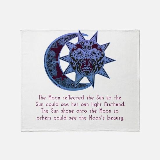 Sun loved the Moon 2 Throw Blanket
