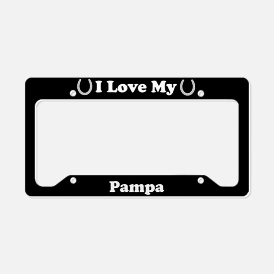 I Love My Pampa Horse License Plate Holder