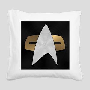 STARTREK VOY METAL 5 Square Canvas Pillow