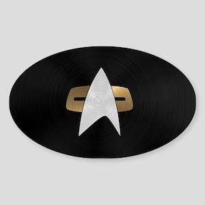 STARTREK VOY METAL 5 Sticker (Oval)