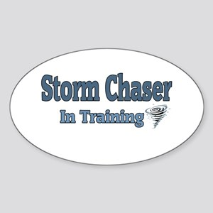 Storm Chaser In Training Oval Sticker