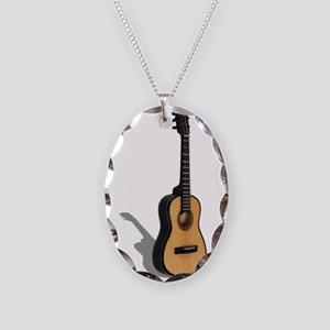 Guitar081210 Necklace Oval Charm