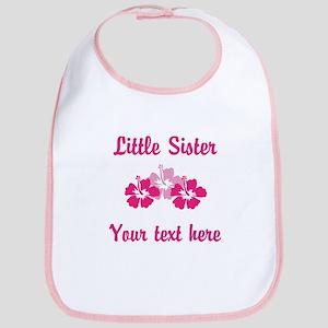 Little Sister Pink Flowers Bib