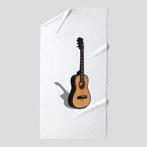Guitar081210 Beach Towel