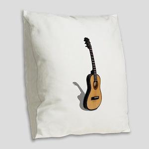 Guitar081210 Burlap Throw Pillow
