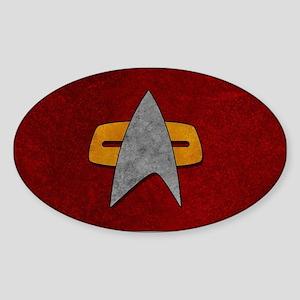 STARTREK VOY GRUNGE Sticker (Oval)