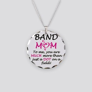Band Mom Necklace Circle Charm