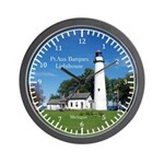 Pt Aux Barques Lighthouse Wall Clock