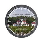 Raspberry Island Lighthouse Wall Clock