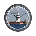 Harbor Beach Lighthouse Wall Clock