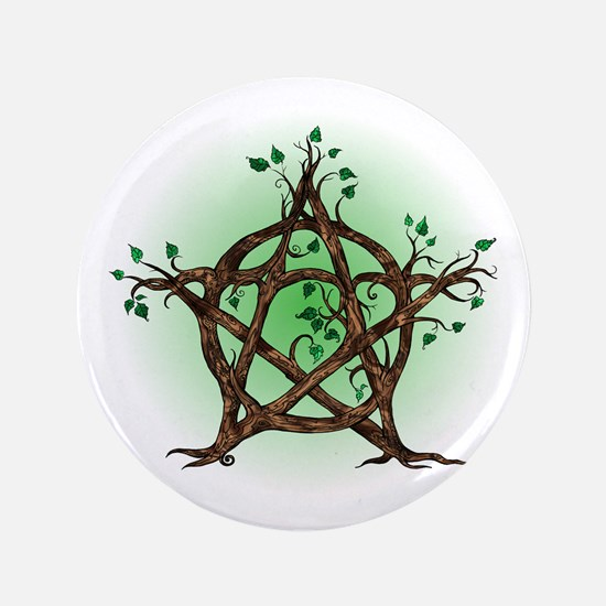 Magic Tree Symbol green backed Button