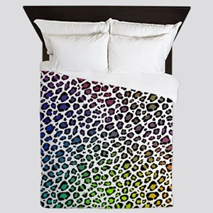 Rainbow Leopard Queen Duvet