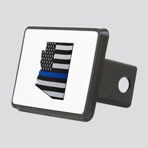 Arizona Thin Blue Line Map Hitch Cover