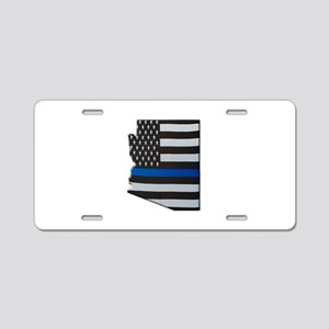 Arizona Thin Blue Line Map Aluminum License Plate