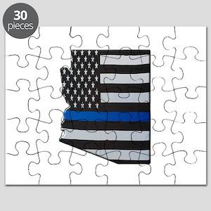 Arizona Thin Blue Line Map Puzzle
