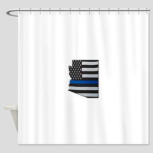 Arizona Thin Blue Line Map Shower Curtain