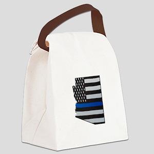 Arizona Thin Blue Line Map Canvas Lunch Bag