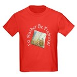 I'd Rather Be Fishing Kids Dark T-Shirt