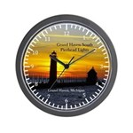 Grand Haven South Pierhead Lights Wall Clock