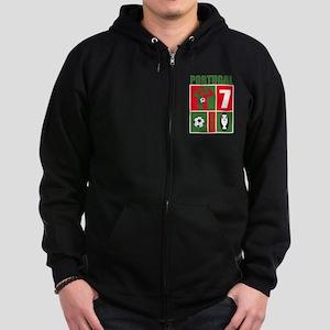 PORTUGAL SOCCER Zip Hoodie (dark)