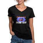 Indonesian Racing Team Women's V-Neck Dark T-Shirt