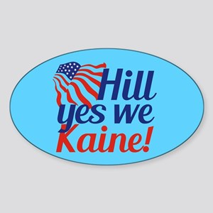 Hill Yes We Kaine Sticker (Oval)