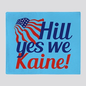 Hill Yes We Kaine Throw Blanket