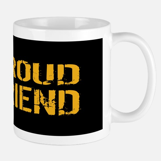 U.S. Navy: Proud Friend (Black) Mug