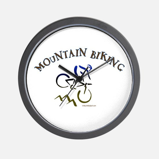 MOUNTAIN BIKING Wall Clock