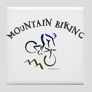MOUNTAIN BIKING Tile Coaster