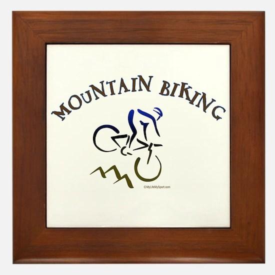 MOUNTAIN BIKING Framed Tile