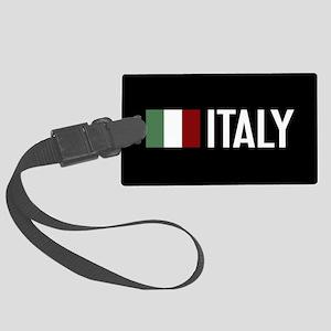 Italy: Italian Flag & Italy Large Luggage Tag