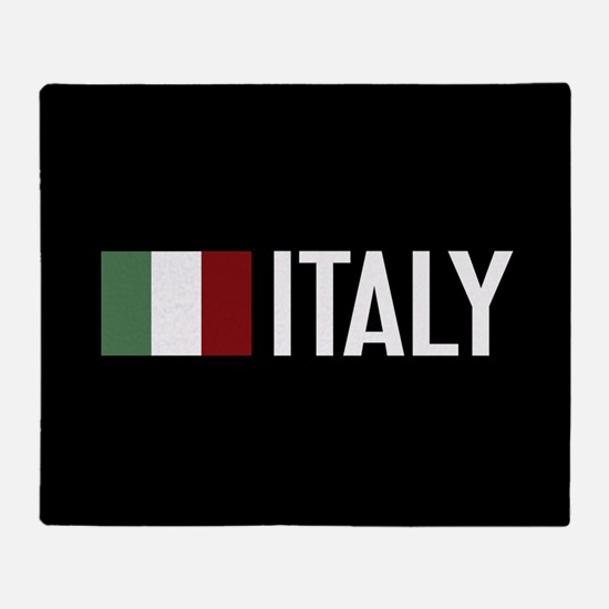 Italy: Italian Flag & Italy Throw Blanket