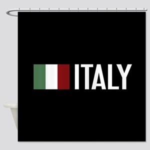 Italy: Italian Flag & Italy Shower Curtain