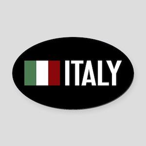 Italy: Italian Flag & Italy Oval Car Magnet