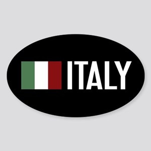 Italy: Italian Flag & Italy Sticker (Oval 10 pk)