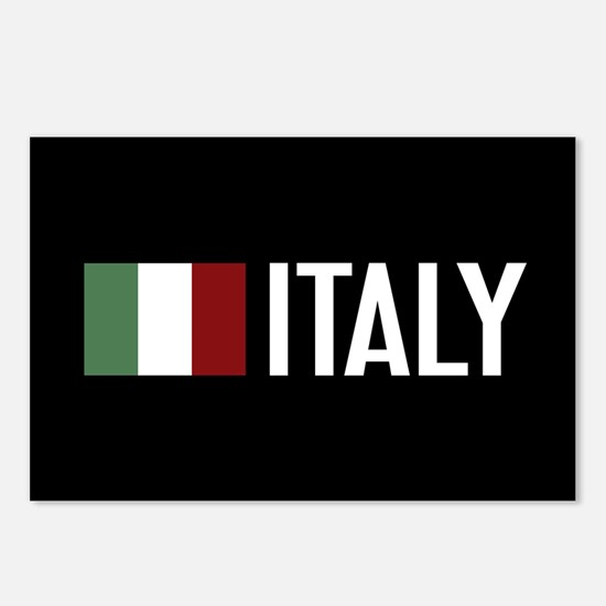 Italy: Italian Flag & Ita Postcards (Package of 8)