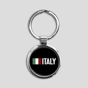 Italy: Italian Flag & Italy Round Keychain
