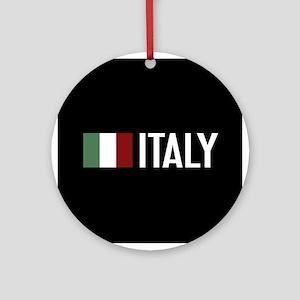 Italy: Italian Flag & Italy Round Ornament