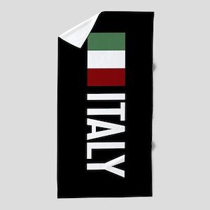 Italy: Italian Flag & Italy Beach Towel