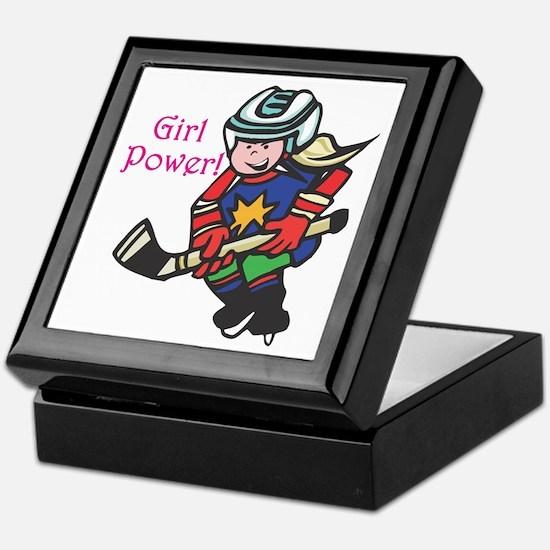 Girl Power Hockey Player Keepsake Box